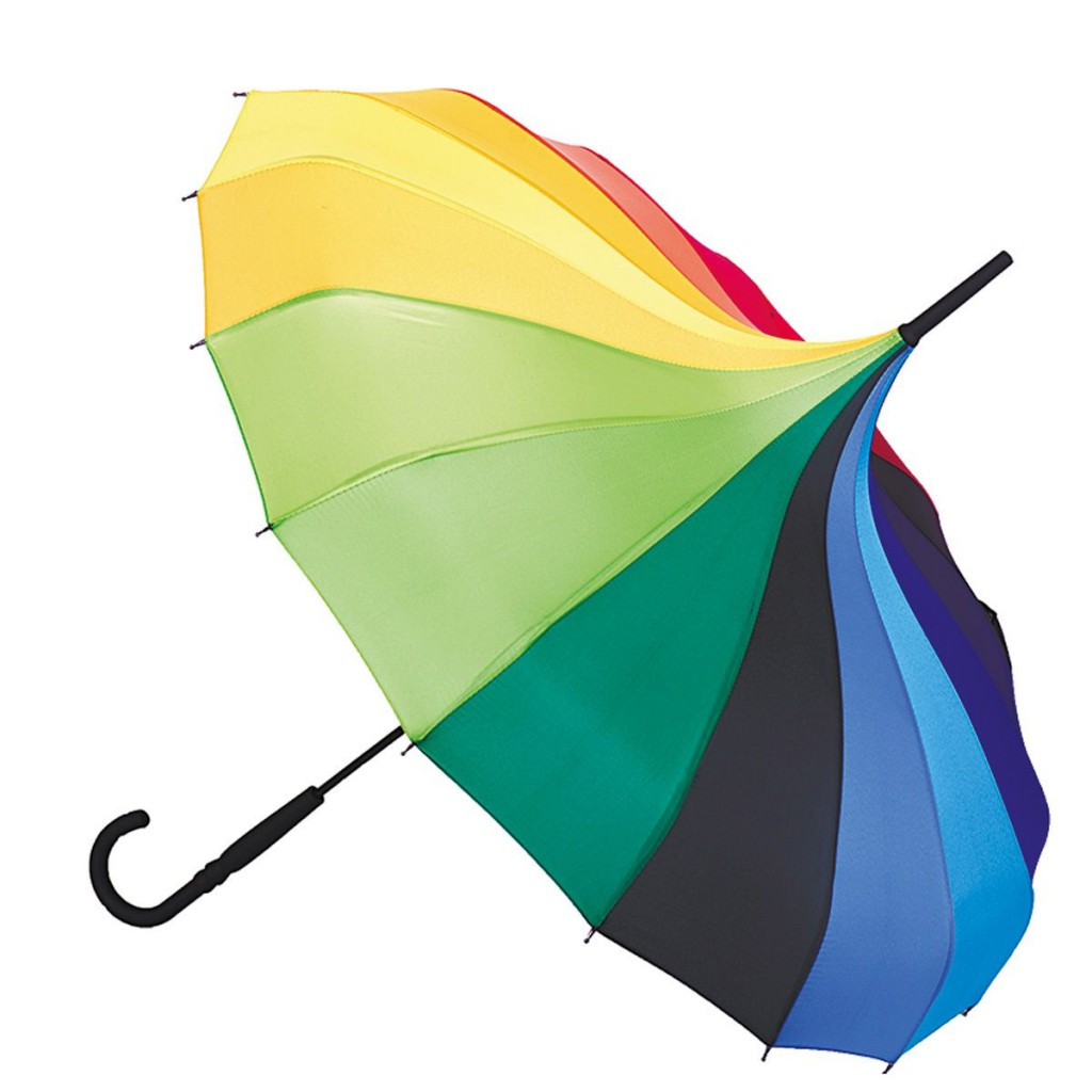 Изогнутый купол женского зонта