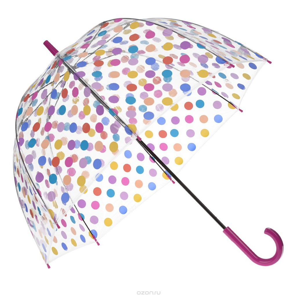 Покатый купол женского зонта