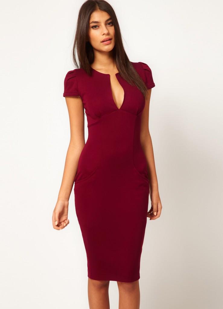 Бордовое платье для женщин за 40
