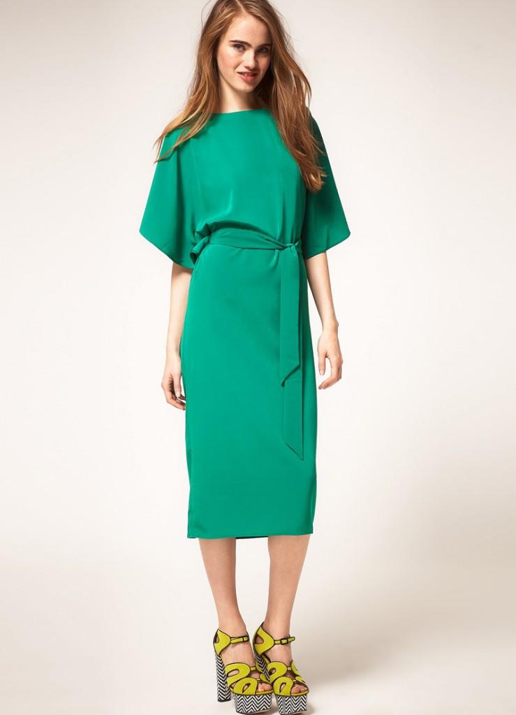 Зеленое платье для женщин за 40