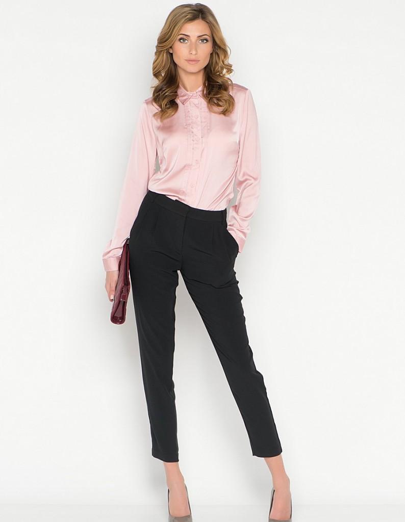 Узкие черные укороченные брюки