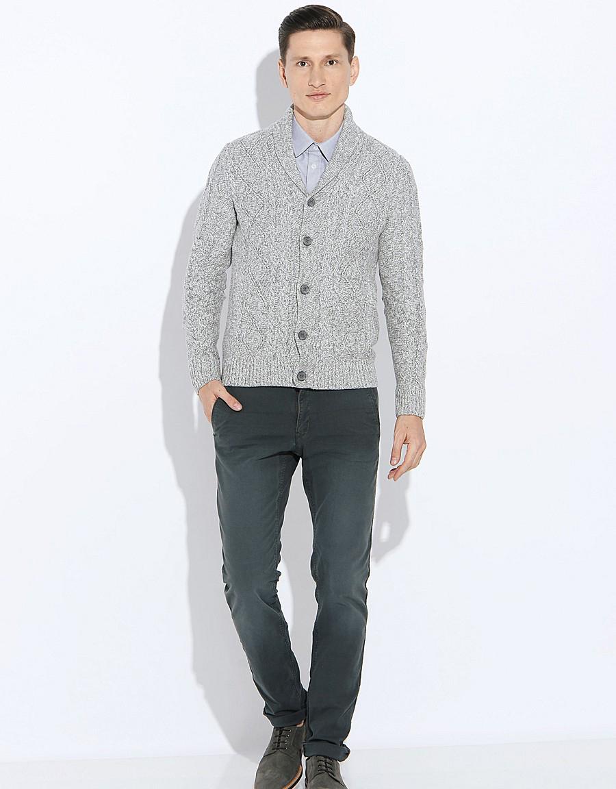 Кардиган мужской длинный с рубашкой и капюшоном, стильные ...