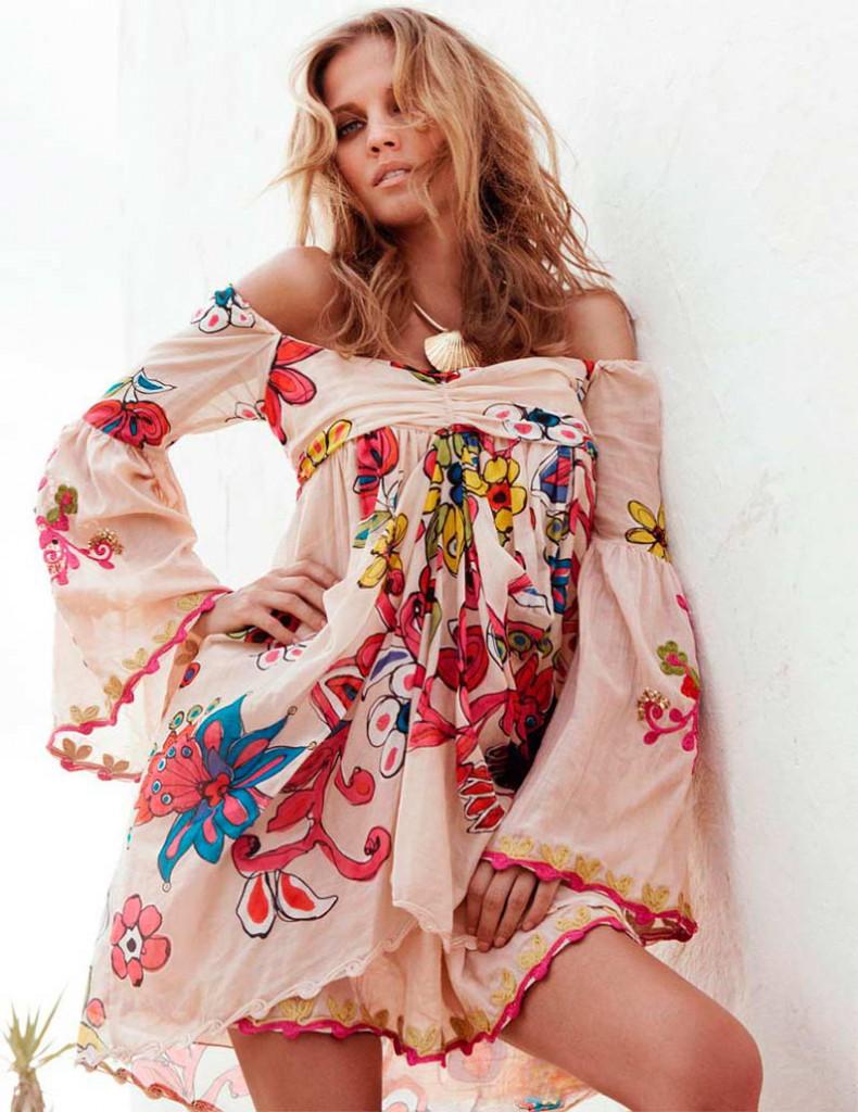 Модная туника с цветочным рисунком