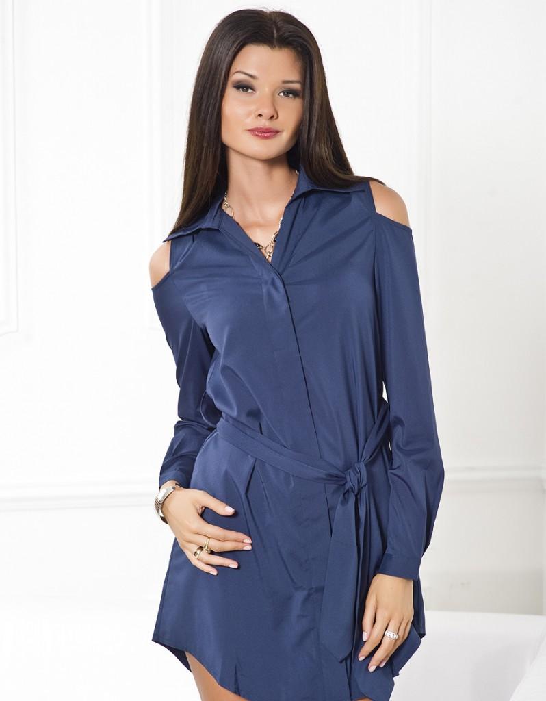Синяя туника-рубашка
