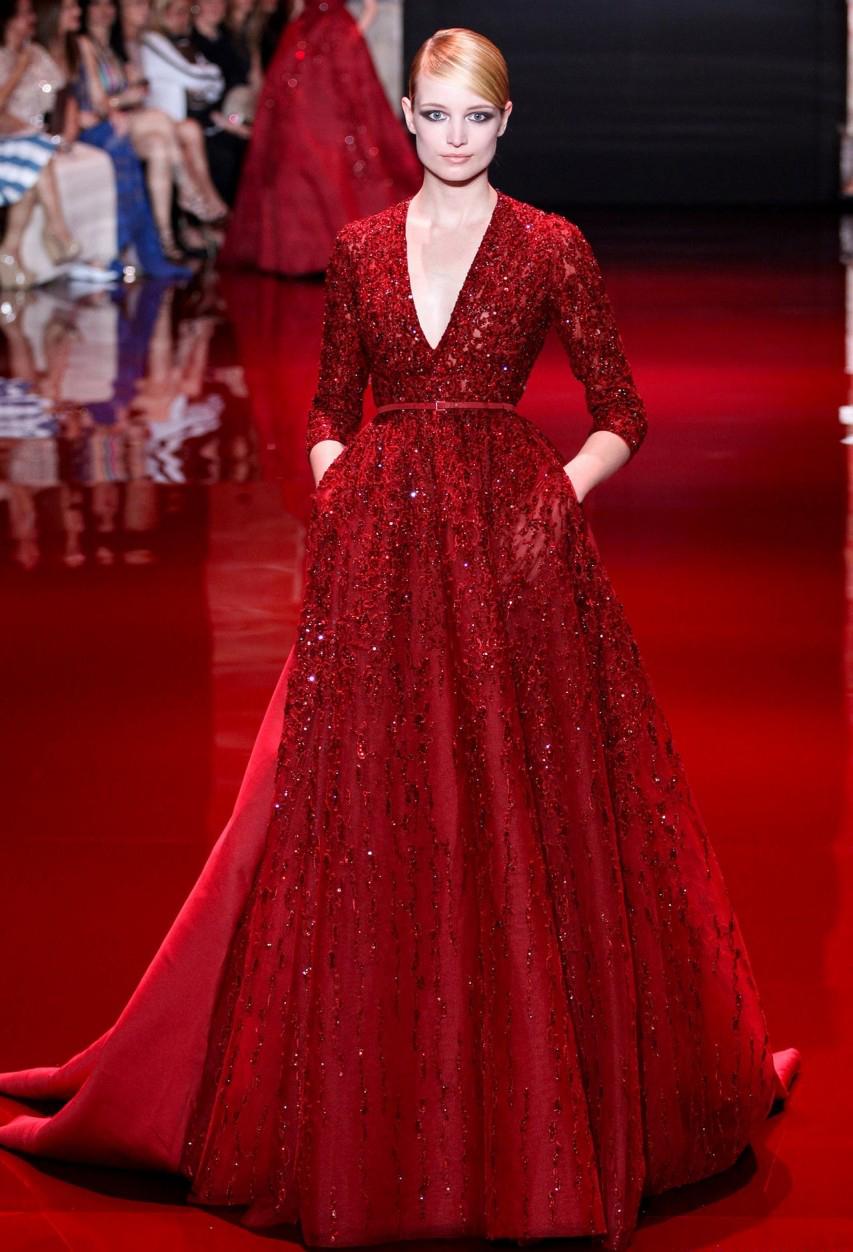 Модные вечерние красные платья