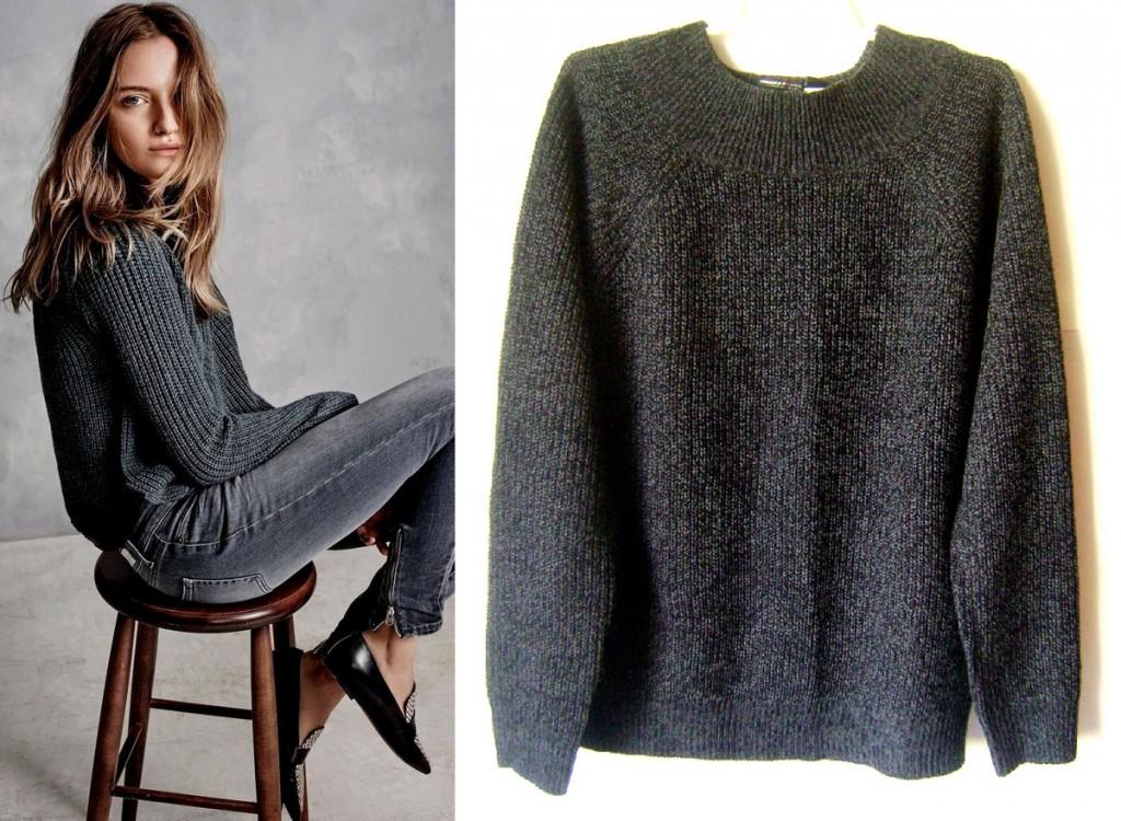 Темно-серый свитер оверсайз