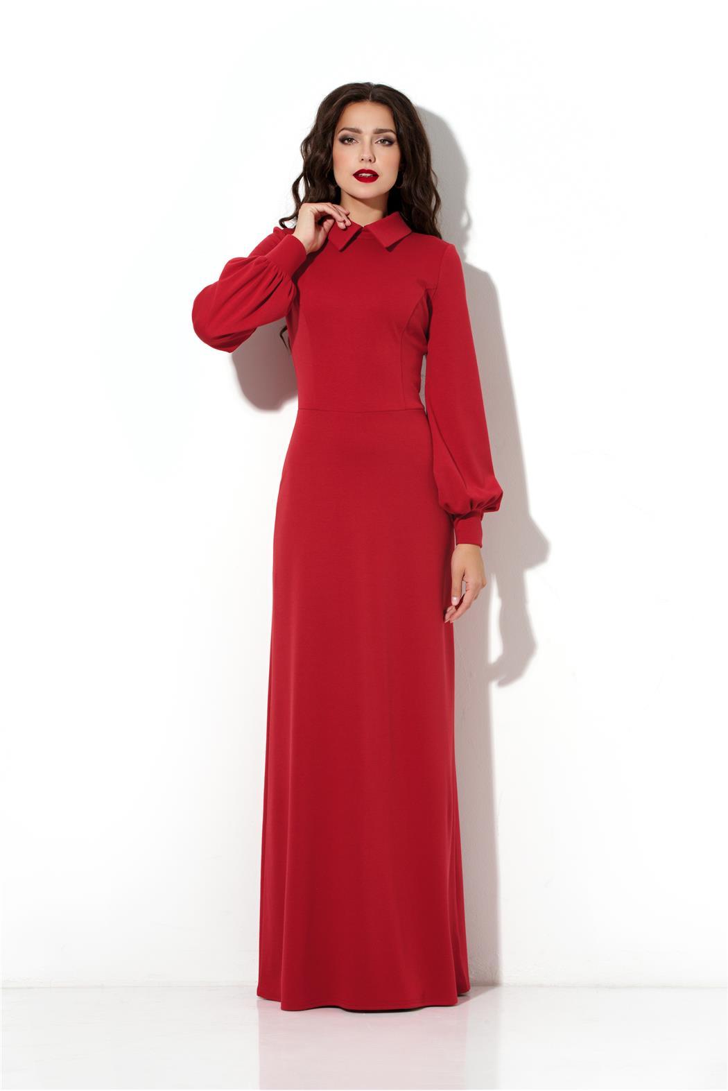 Длинные платья с горловиной