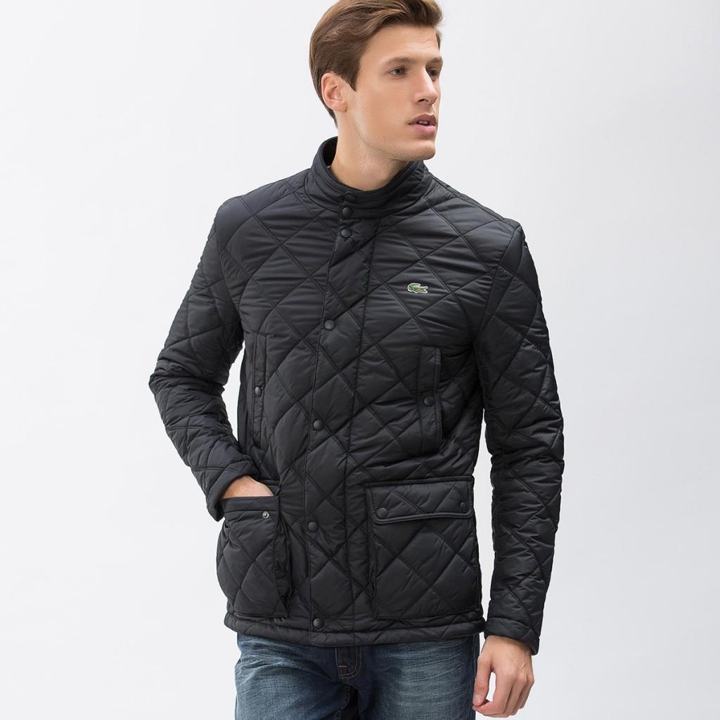Модная черная тканевая мужская куртка