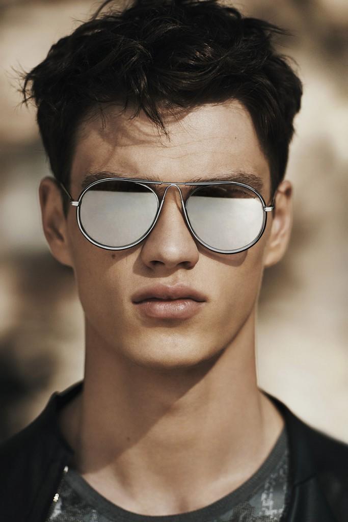 Мужские отражающие солнцезащитные очки
