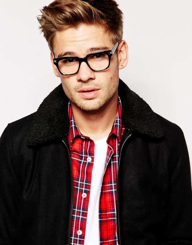 Стильные мужские очки для зрения в черной оправе