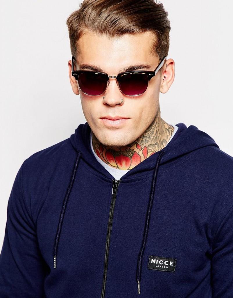 Мужские солнцезащитные очки в ретро стиле