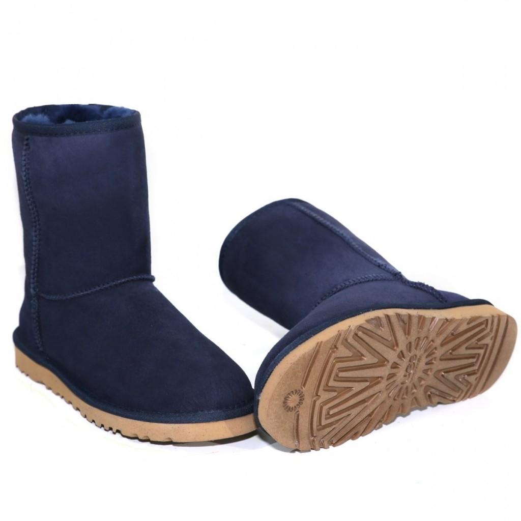 Модные синие мужские угги