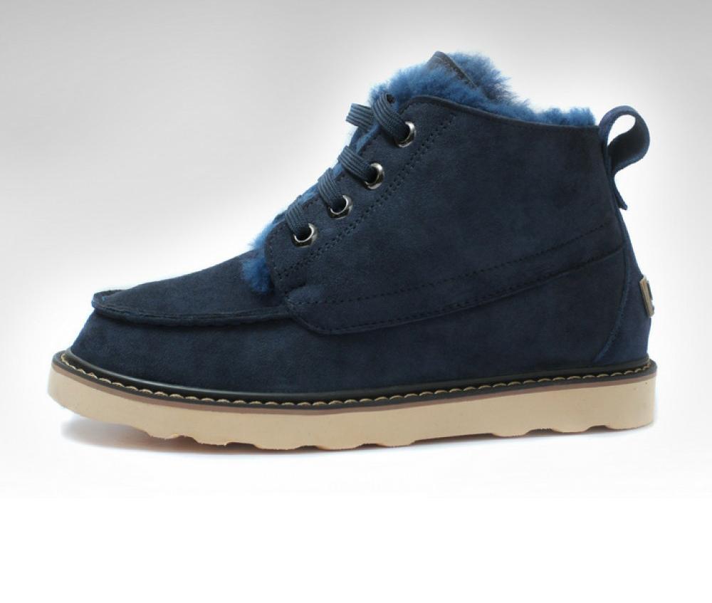 Модные мужские угги со шнуровкой