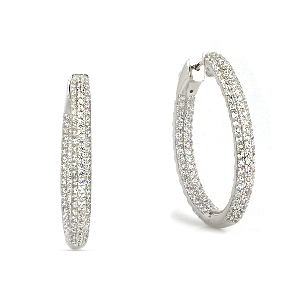 Большие серьги конго с бриллиантами