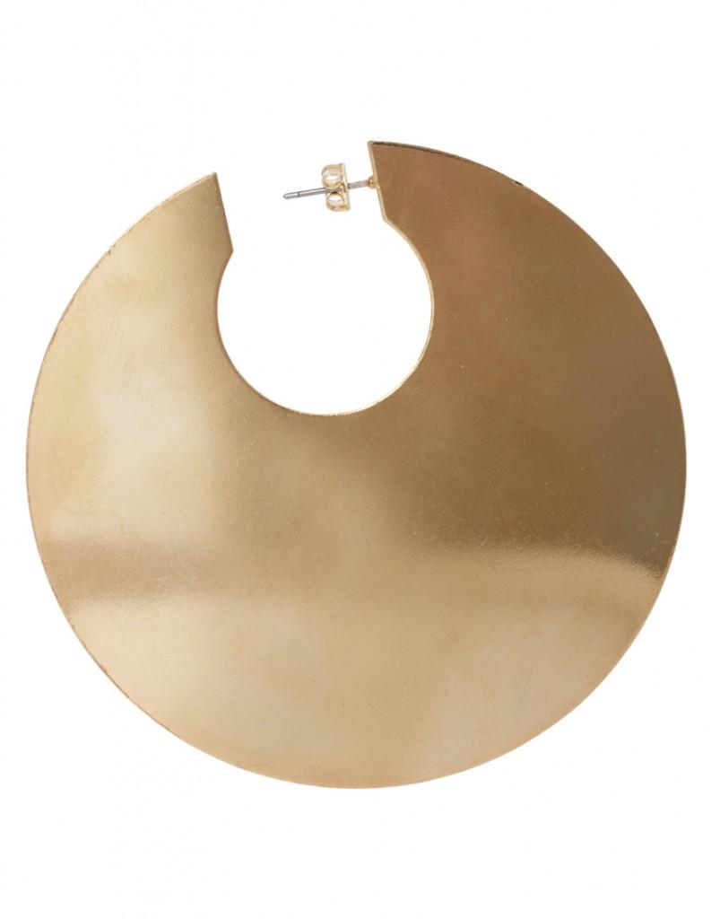 Стильные плоские серьги конго