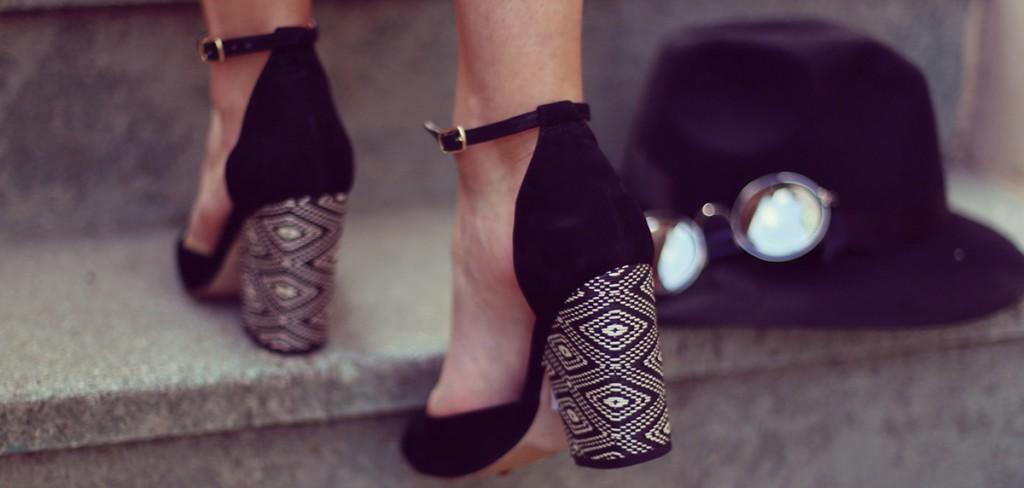 С чем носить туфли на толстом каблуке