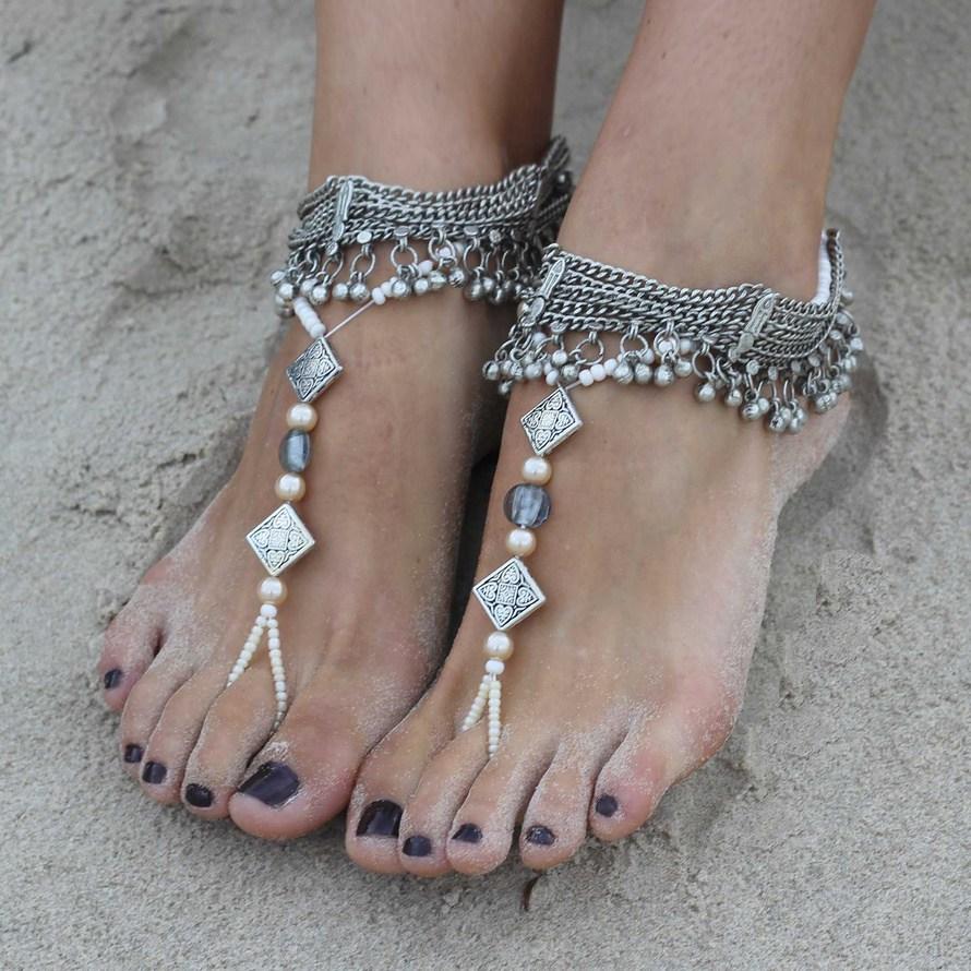 Красивые украшения для ступней