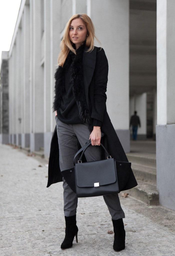 Пальто с мехом во французском стиле