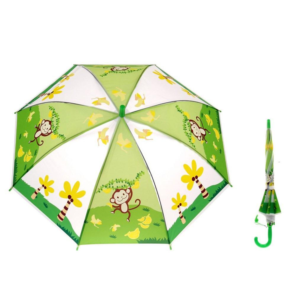 Модный детский зонтик с обезьянками