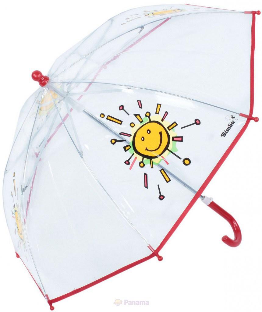 Детский прозрачный зонтик с солнышком