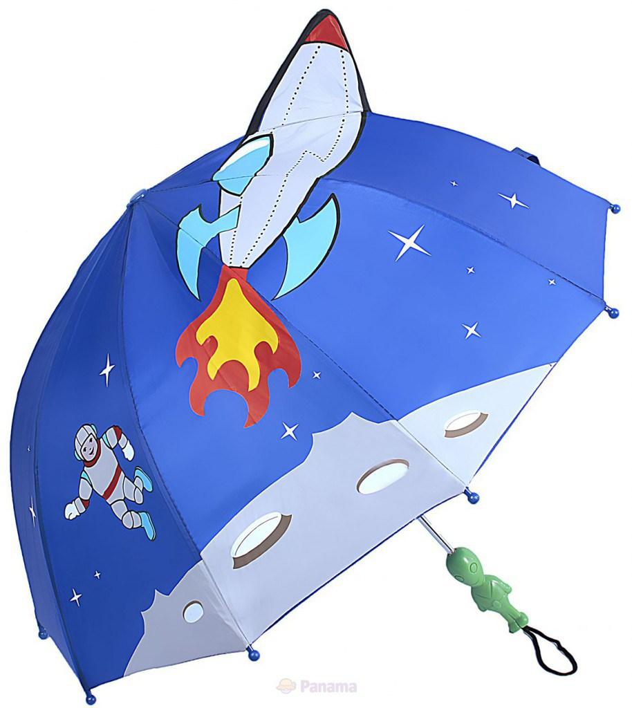 Детский зонтик для мальчиков с космическим рисунком
