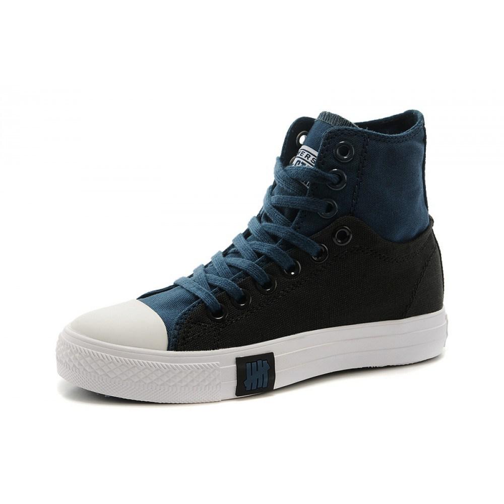 Мужские черно-синие джинсовые ботинки