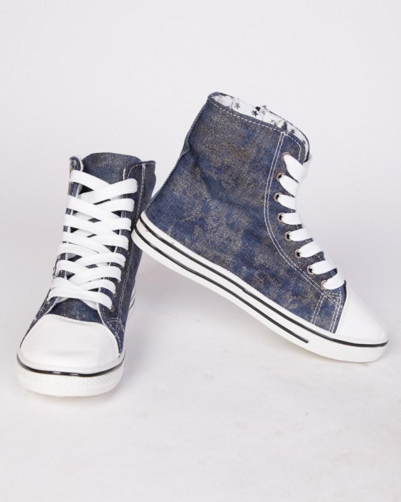 Мужские серые джинсовые ботинки