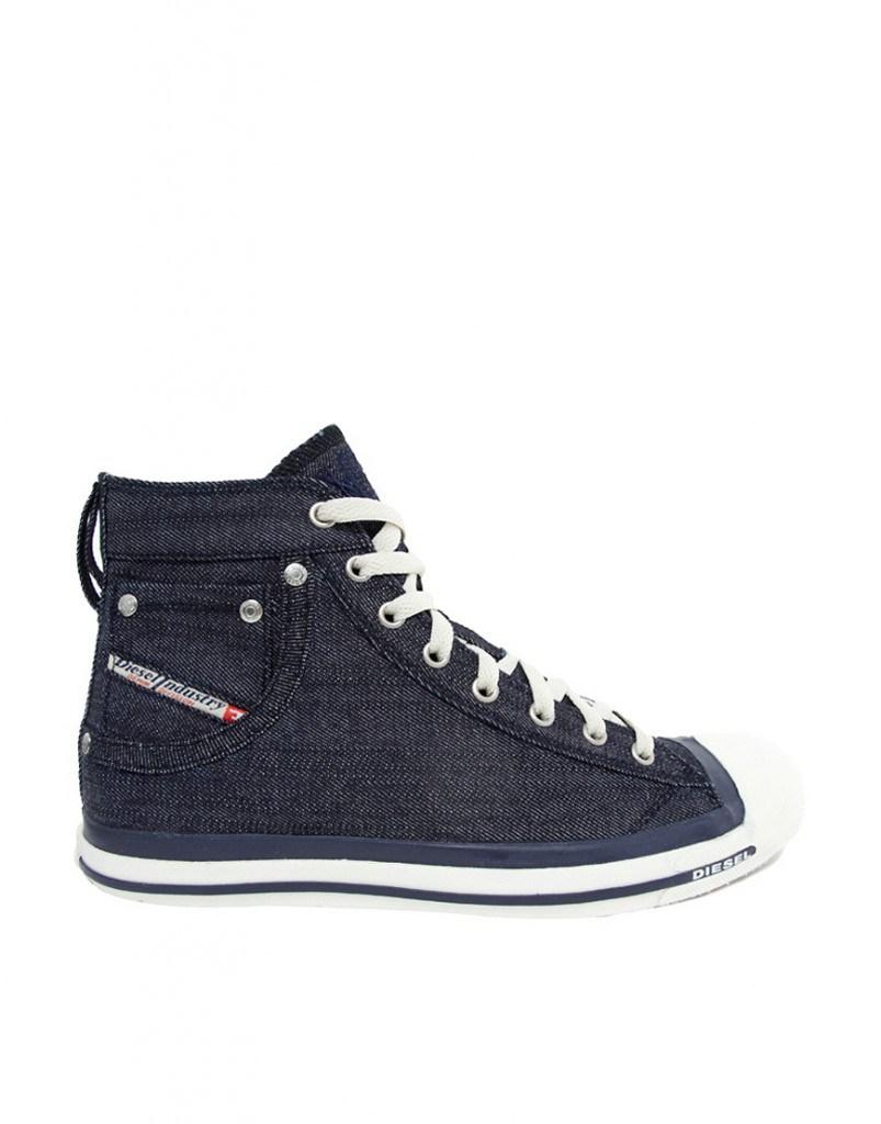 Мужские черные джинсовые ботинки