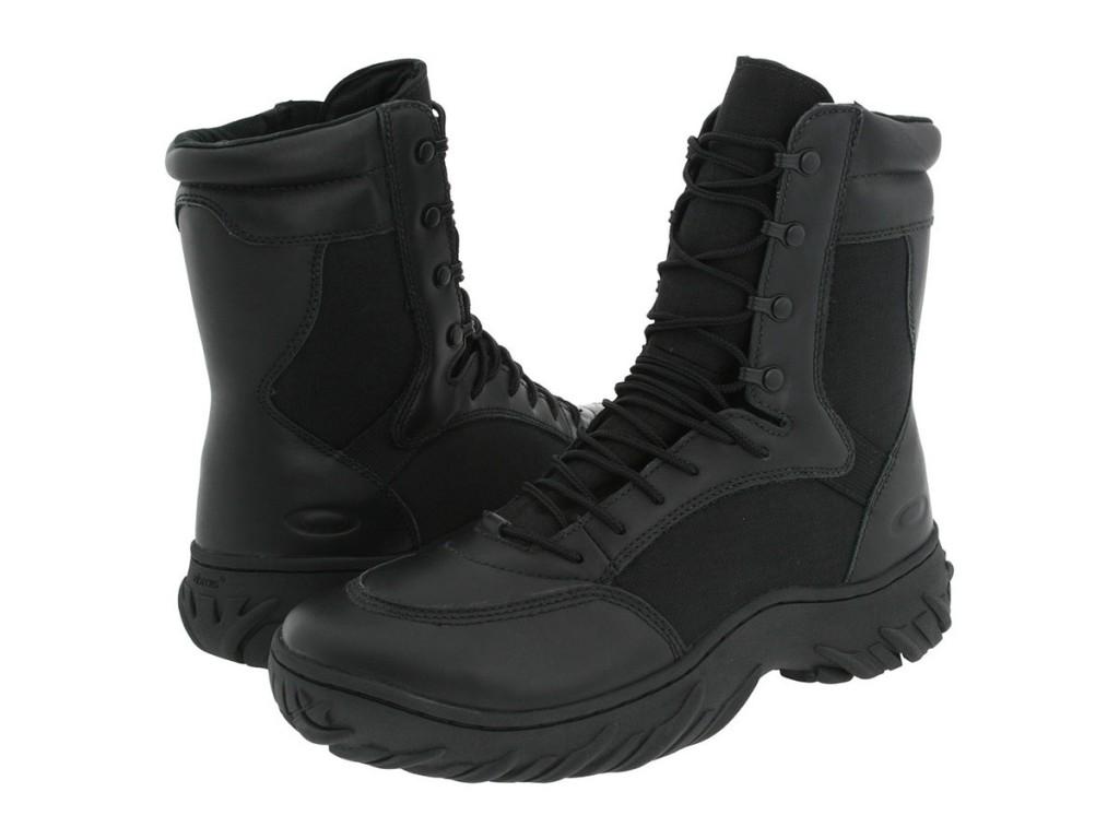 Зимние черные высокие мужские ботинки
