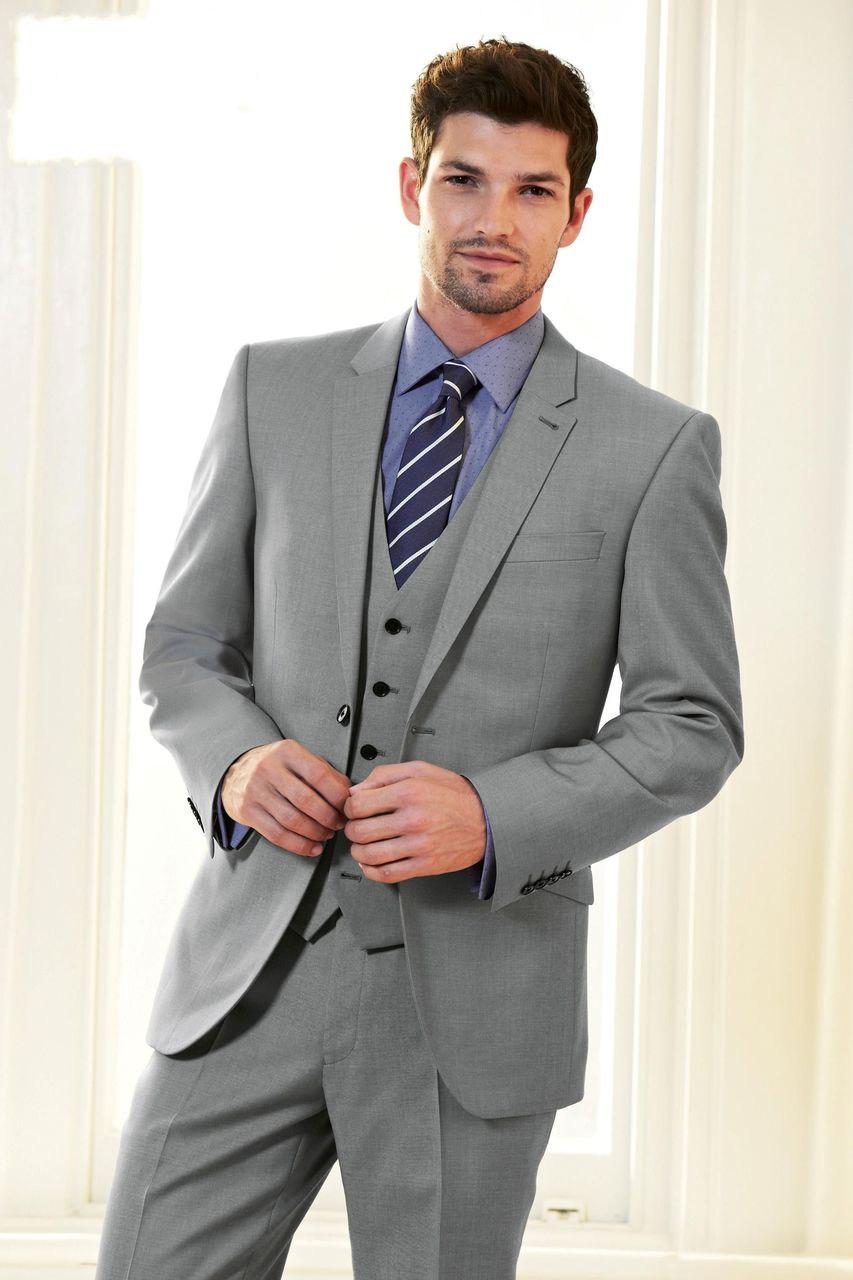 0233468faa8 Мужской классический стиль одежды Мужской классический серый костюм ...