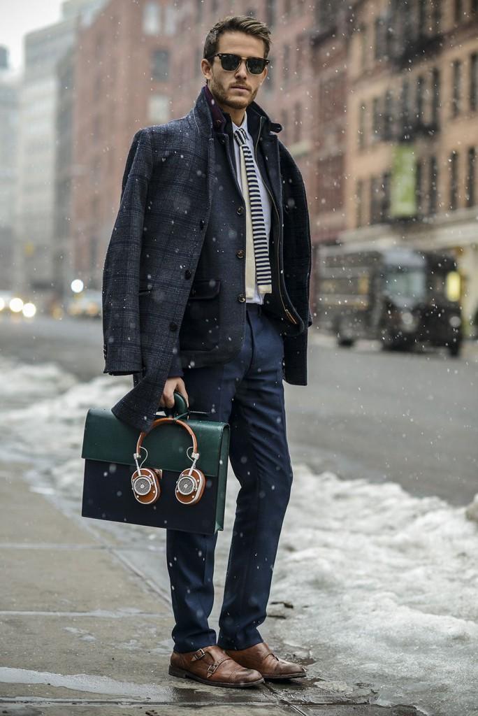 Многослойность одежды в стиле business casual