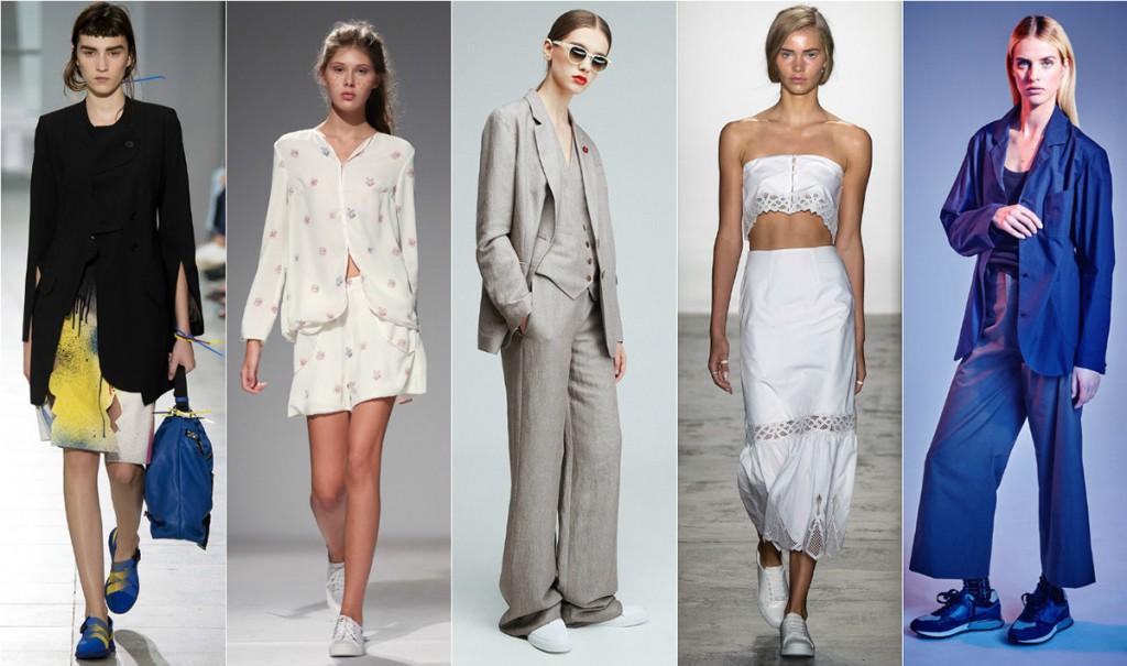 Модные женские образы с кедами