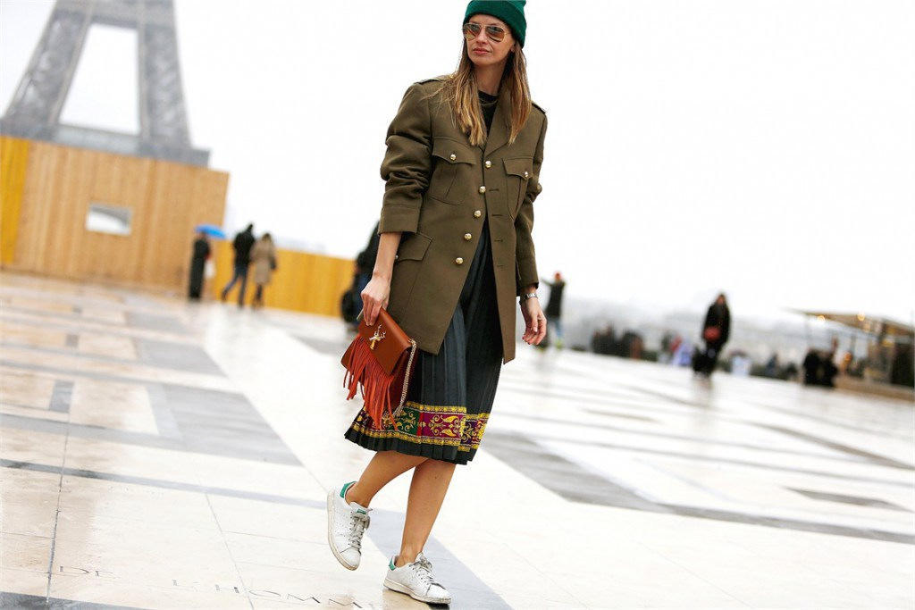 Модная одежда в стиле милитари