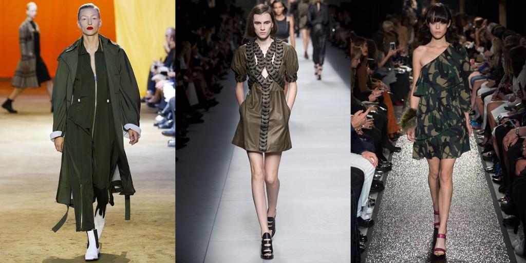 Модные наряды в стиле милитари