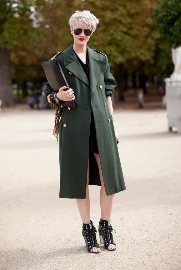 Модное пальто в стиле милитари