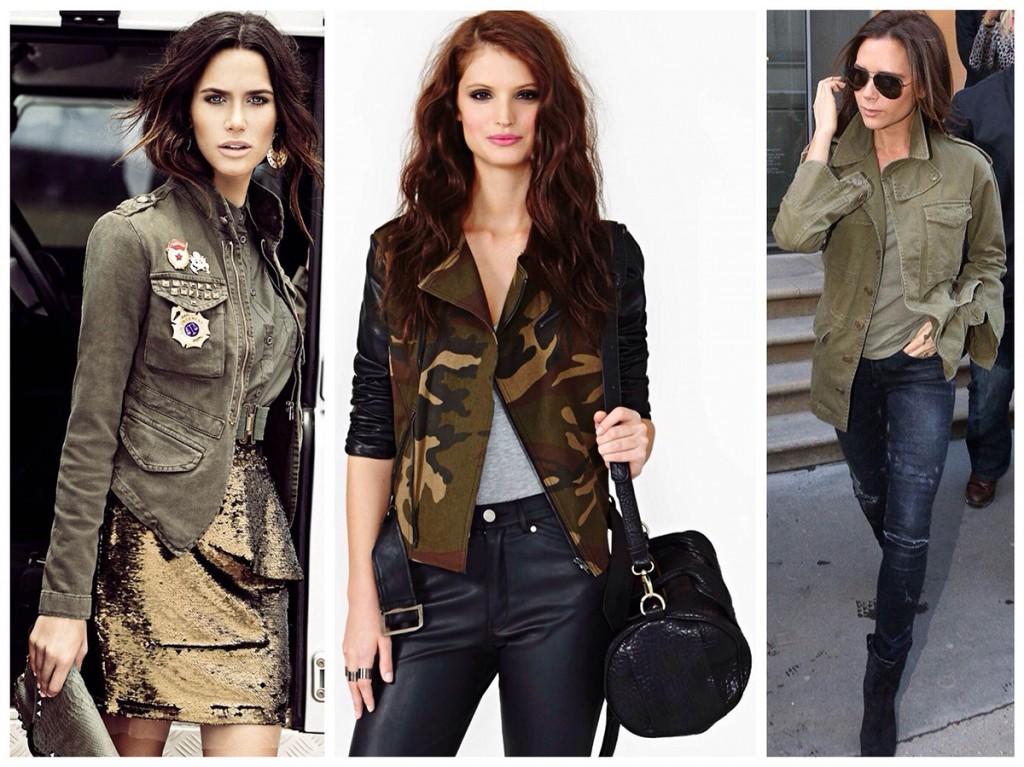 Женские курточки в стиле милитари