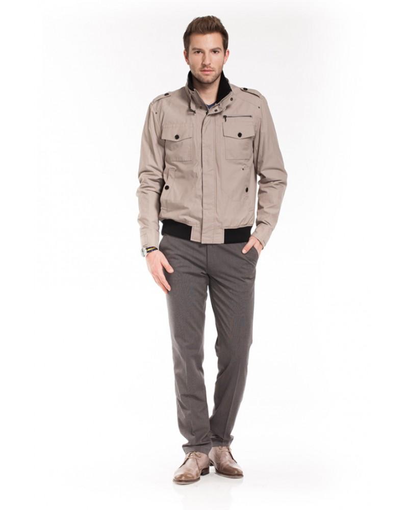 Мужская модная куртка в стиле сафари