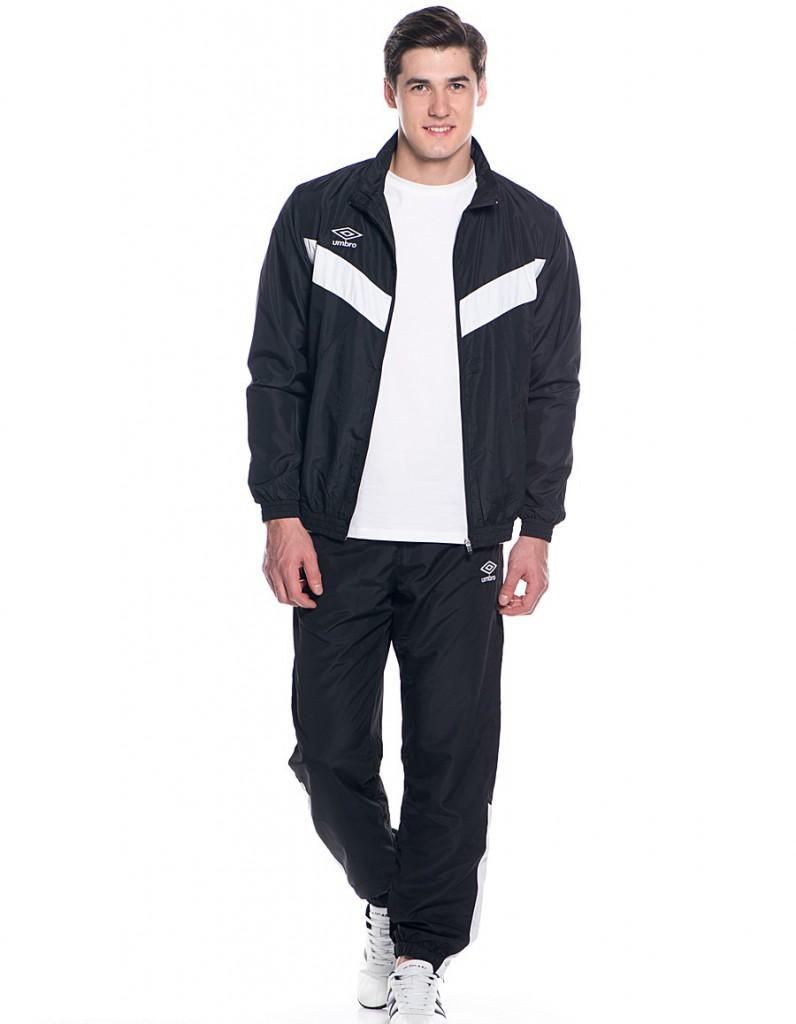 Мужской черно-белый стильный спортивный костюм