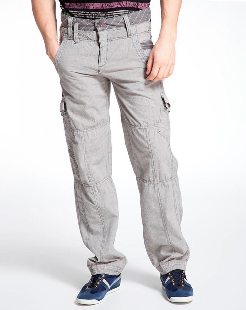 Спортивные мужские серые брюки