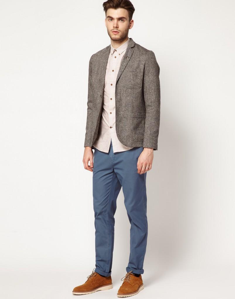 Теплый серый спортивный пиджак