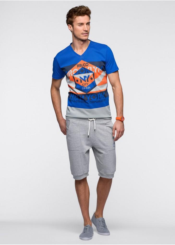Мужской спортивный образ с шортами