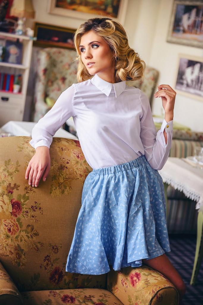 Юбка и блузка в стиле прованс