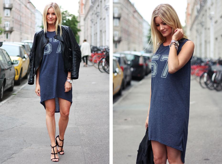 Модное синее платье-майка