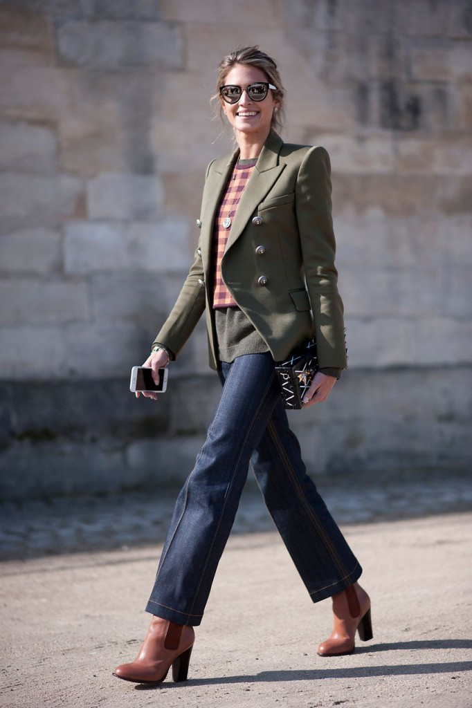 Женский стиль smart casual  с джинсами и жакетом