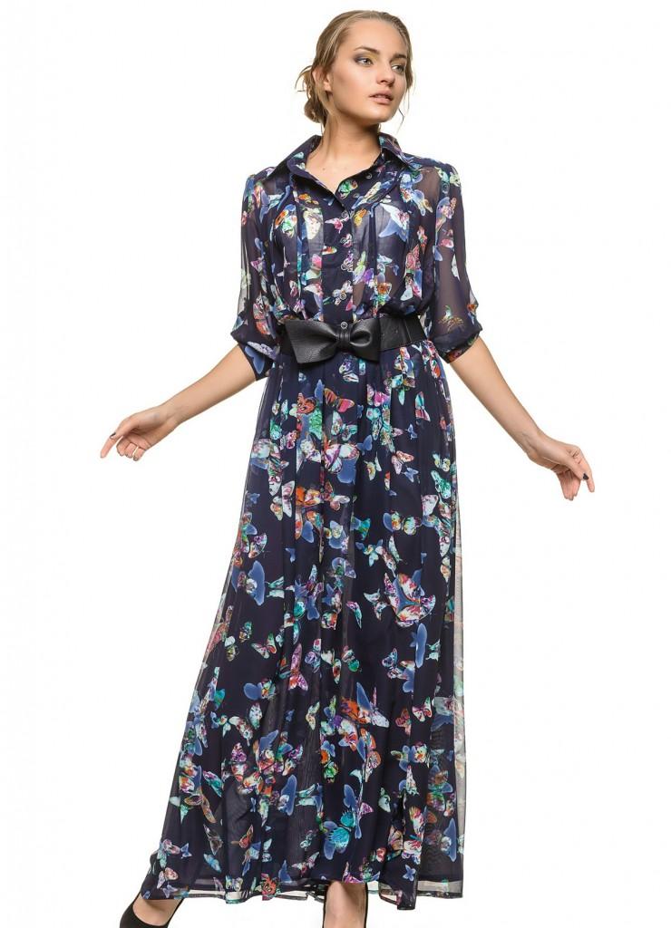Модное летнее платье для женщины 50 лет