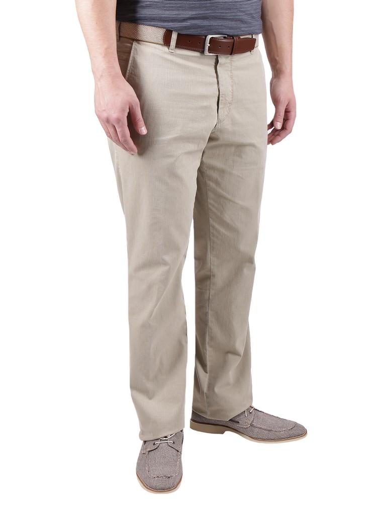 Бежевые мужские брюки слаксы