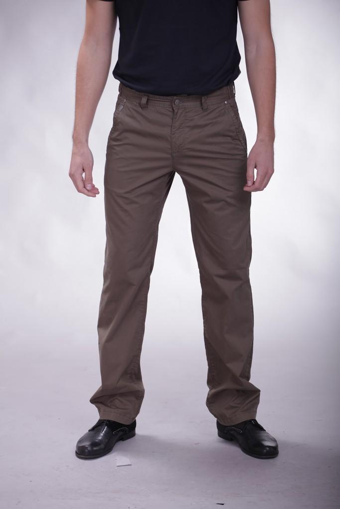 Темно-серые мужские брюки слаксы
