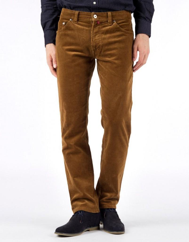 Вельветовые мужские брюки слаксы
