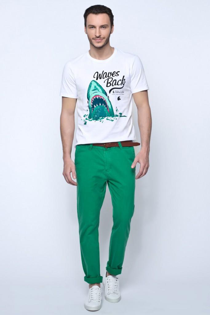 Зеленые мужские брюки слаксы