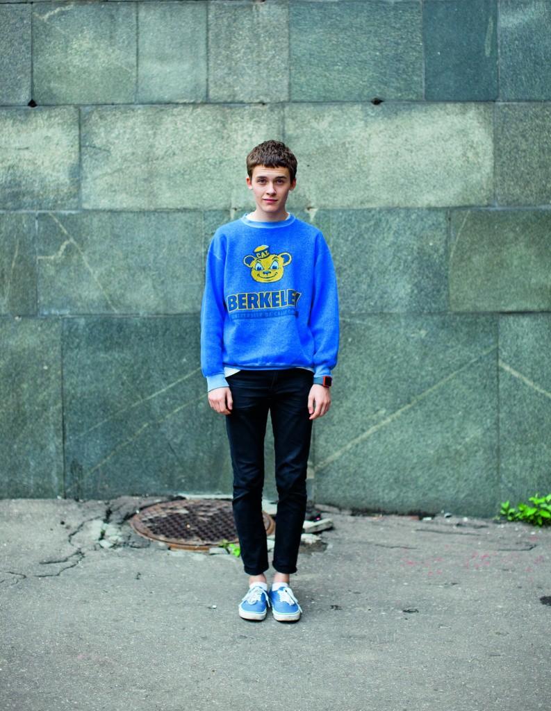 Подросток хипстер